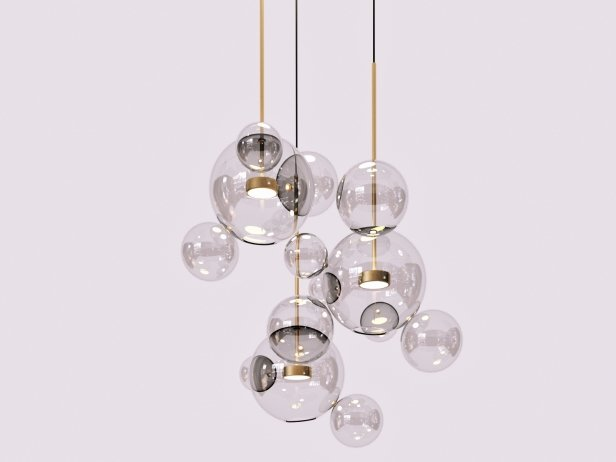 Bolle BLS14C Pendant Lamp 3d model | Giopato&Coombes, Ita