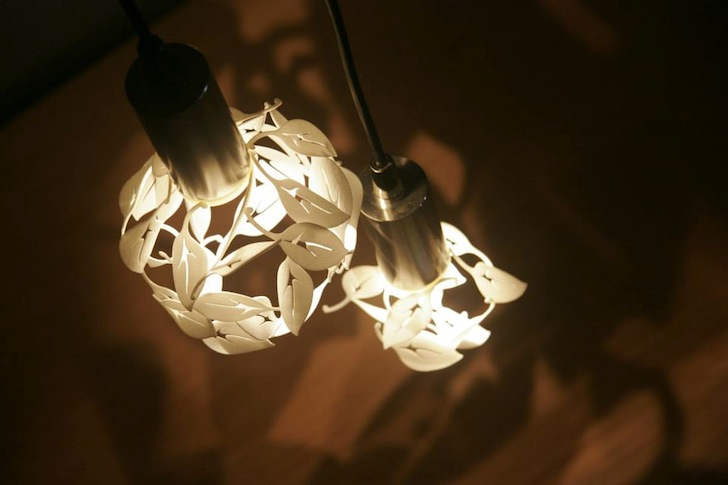 CP Lighting's 3D Printed Pendant Lamps Wrap Swirling Leaves Around .