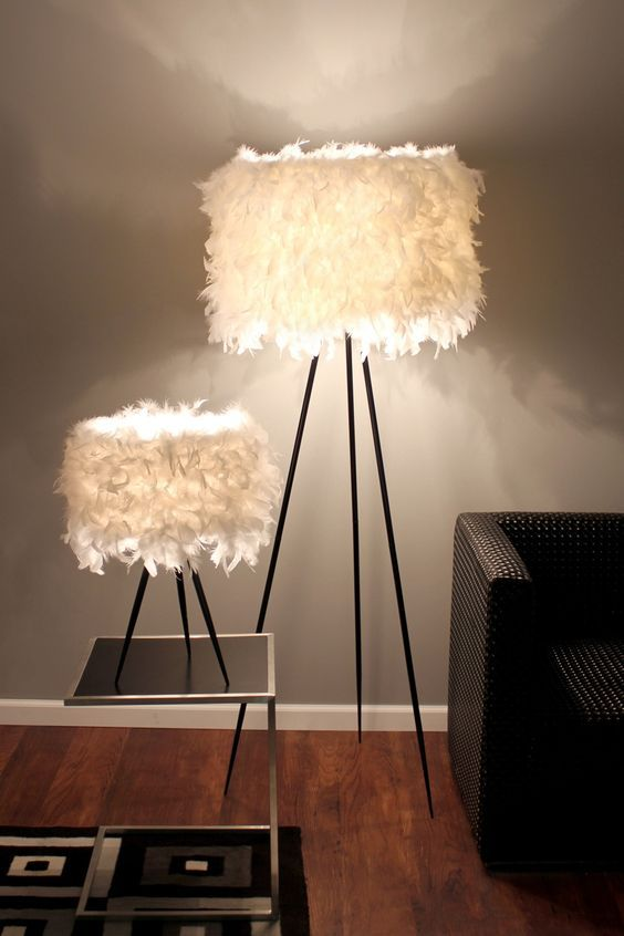5 Easy Ways To Add Glam To Any Interior | Feather lamp, Funky .