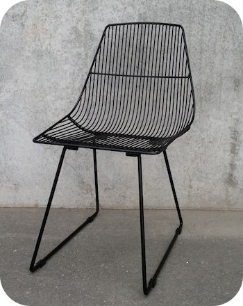 INDUSTRIAL LIGHTING & FURNITURE | 60'S STYLE METAL WIRE FURNITURE .