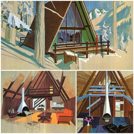 Vintage Cabins | Mid-Century Modern | A-Frame House | Residential .