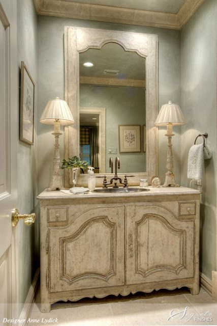 22 Absolutely Charming Provence Bathroom Décor Ideas   French .