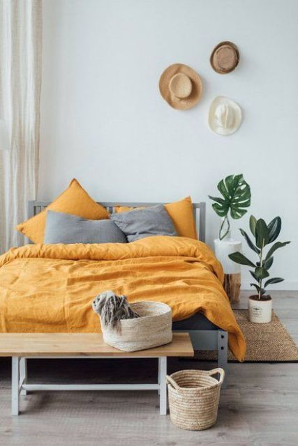 25 Easy Ways To Add Yellow To Your Bedroom   Colorful bedroom .