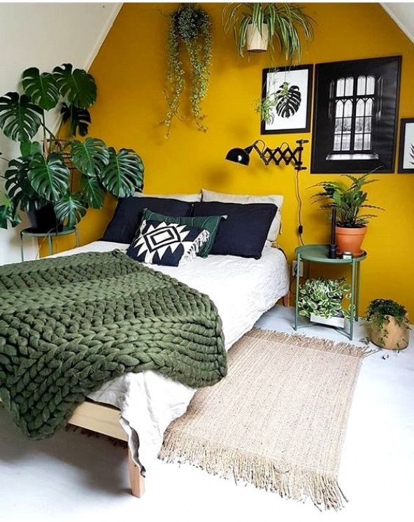 25 Easy Ways To Add Yellow To Your Bedroom #bedroom #yellow .