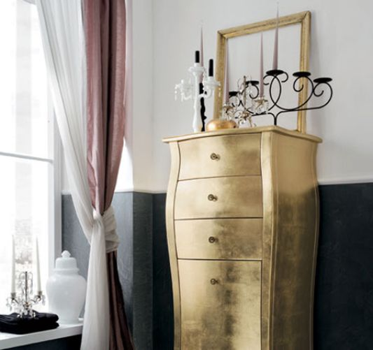 Classical bathroom furniture collection of Gold Leaf color-RAB .