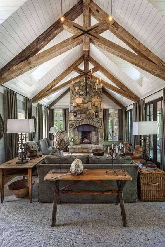 Airy And Cozy Rustic Living Room Designs   Rustic living room .