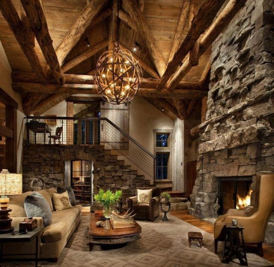 Home Ideas for Your Inspiration: 55 Airy And Cozy Rustic Living .