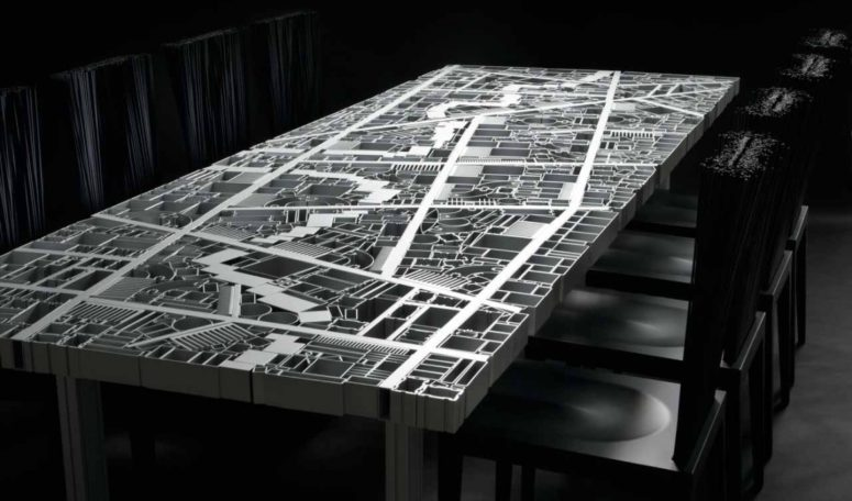 Baghdad Table With The City Map Of Aluminum - DigsDi