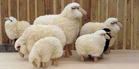 Animal-Inspired Sculptural Seating: Life-Sized Sheep Double as .