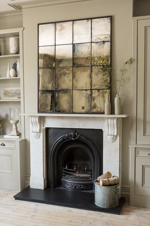 Highly distressed antiqued mirror glass window mirror www .