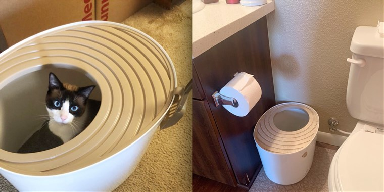 This unique litter box has saved me hours on cleaning my apartme