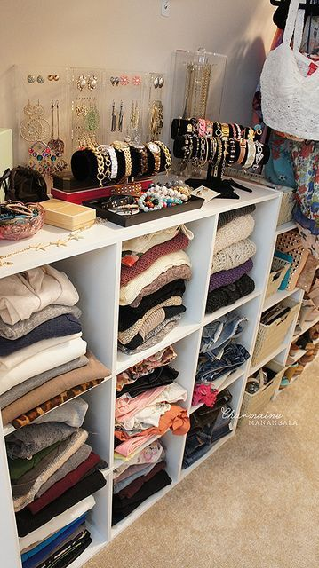 16 Out-of-the-Box Ways to Use Storage Cubes   Closet bedroom .
