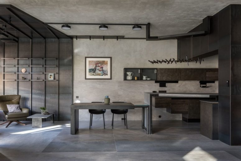 Modern Apartment In All Shades Of Grey - DigsDi