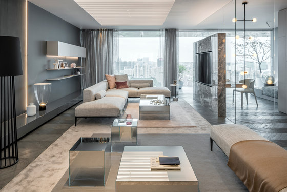 Show apartment 'Shades of Grey' by Ippolito Fleitz Group | Living .