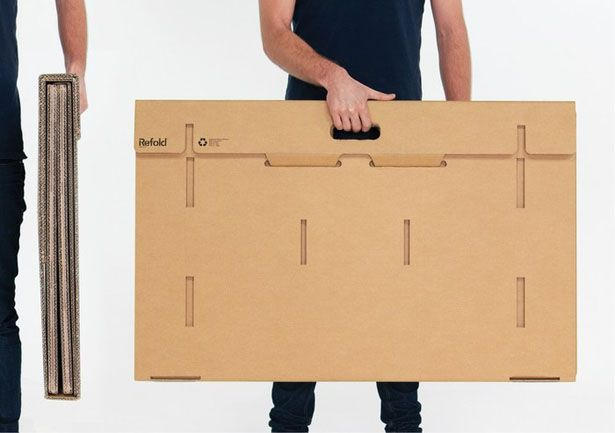 Refold's Portable Cardboard Standing Desk aims to change the way .