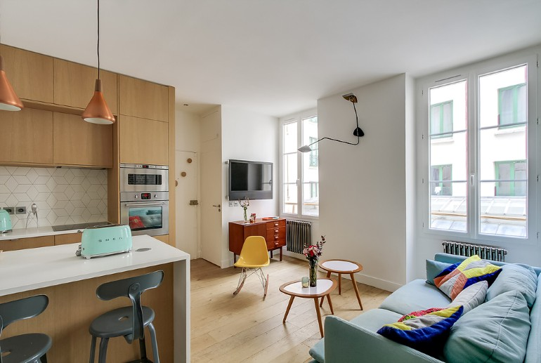 36 Square-Meters Apartment Design Optimized by Transition