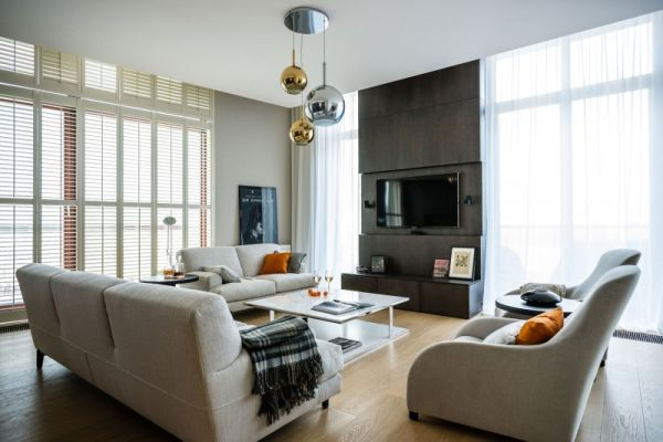 A sophisticated apartment with an elegant interior in Wars