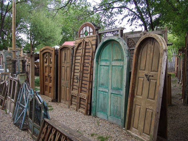 Taos Doors   Rustic doors, New mexico style, Arched doo