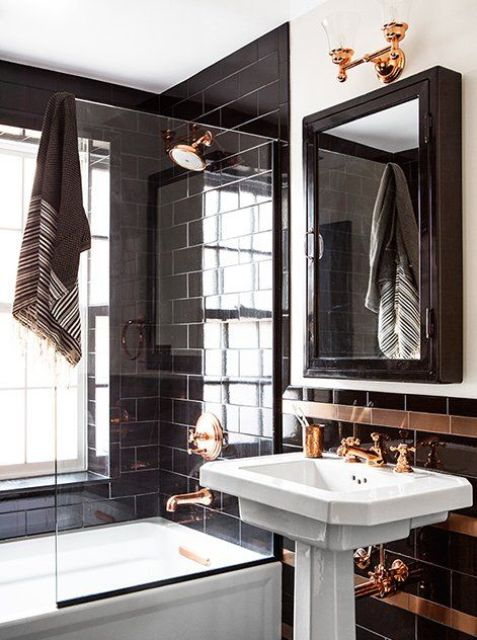 3 Tips And 23 Examples To Create An Art Deco Bathroom - DigsDi