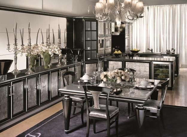 Modern Kitchen Designs with Art Deco Decor and Accents in Art .
