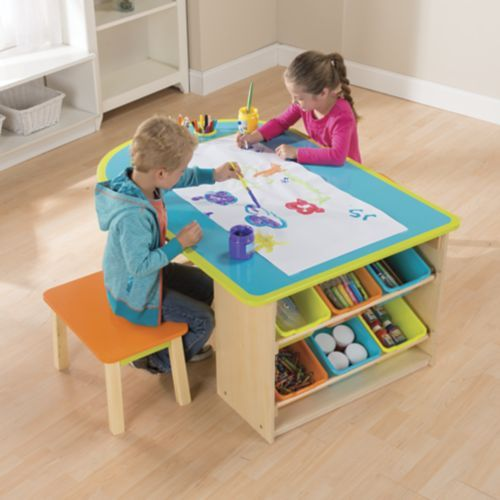Kids Deluxe Art Table   Kids craft tables, Kids art table, Craft .