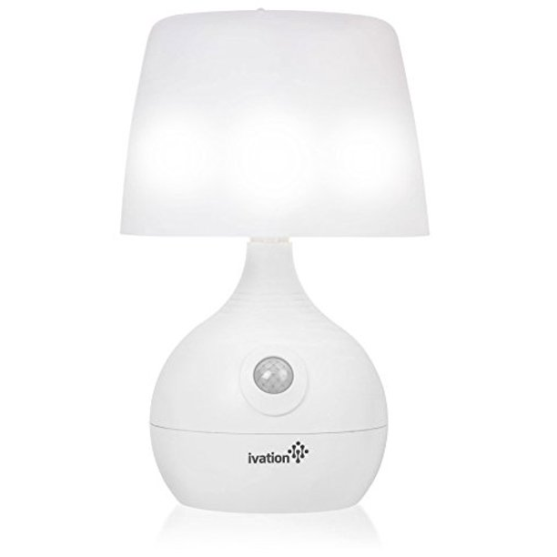 Ivation 12-LED Battery Operated Motion Sensing Table Lamp - Dual .