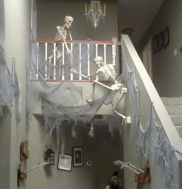 scary halloween decorations indoor decoration ideas skeletons .