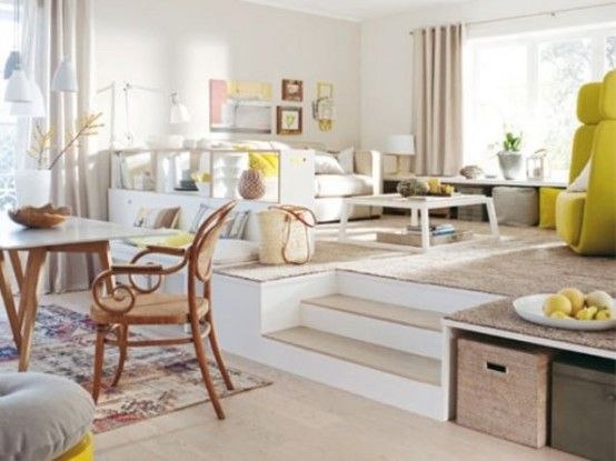 32 Awesome Ideas To Use Raised Platforms In Interiors | Dining .