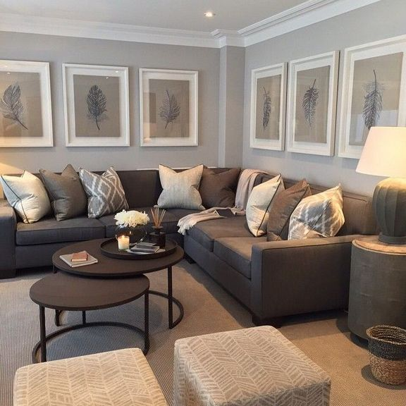 30+ smart concept living room decor brown couch ideas in March .
