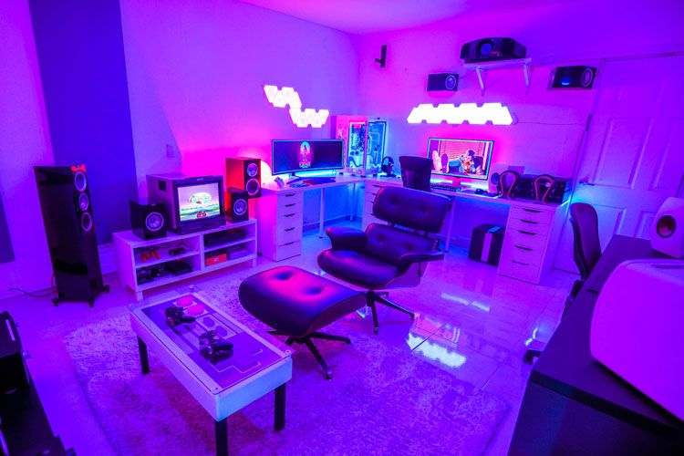 40 Best Video Game Room Ideas + Cool Gaming Setup (2020 Guide) in .