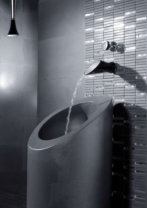 Black and White Bathroom Taps and Shower Heads from Bongio .