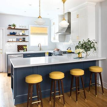 Blue And Yellow Kitchen Design Ide