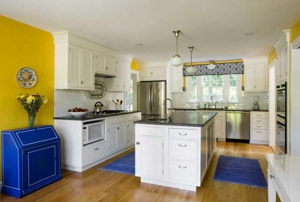 How to Design a Yellow-Blue Kitchen   Home Decor Bu