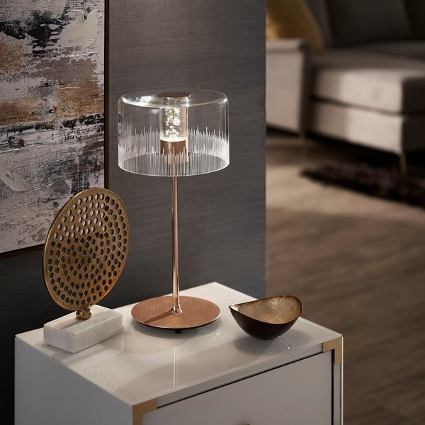 Shop Mya Gold Finish Metal Table Lamp by iNSPIRE Q Bold .