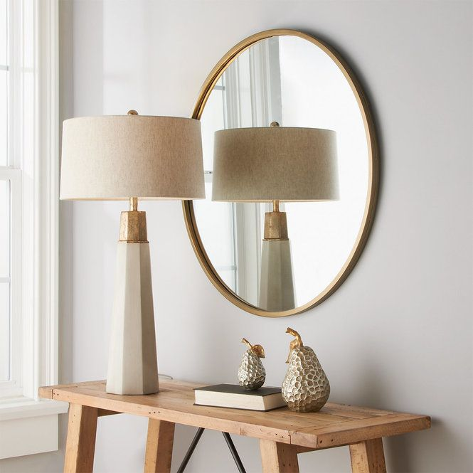 Erika Concrete Table Lamp in 2020   Table lamp wood, Copper table .