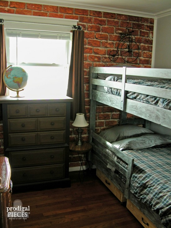 Teen Boys' Room Reveal ~ Vintage Industrial Style - Prodigal Piec