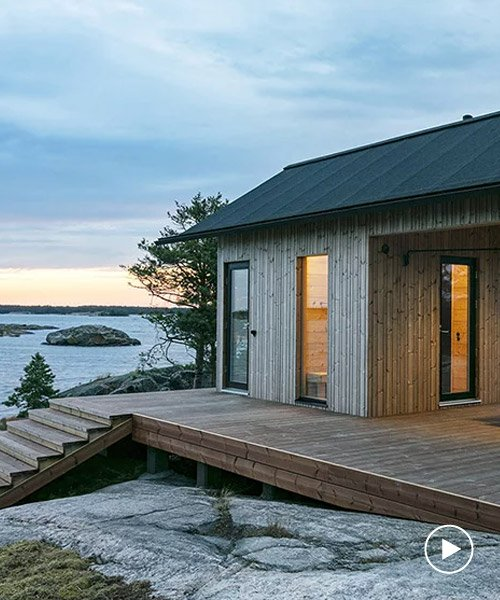 project ö is a series of self-sufficient cabins on a finnish .