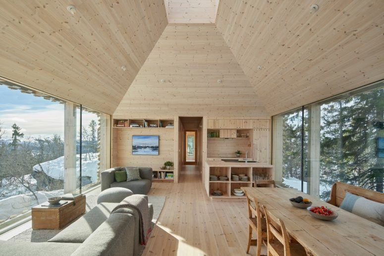 Skigard Hytte Cabin With Detached Log Cladding - DigsDi