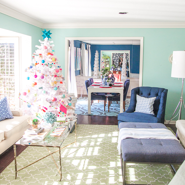 Holiday Home Tour Pt 3: Candy Color Tree   Pencil Shavings .