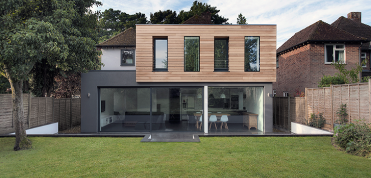 Wood Cladding Ideas | House exterior, Flat roof house, Building a .