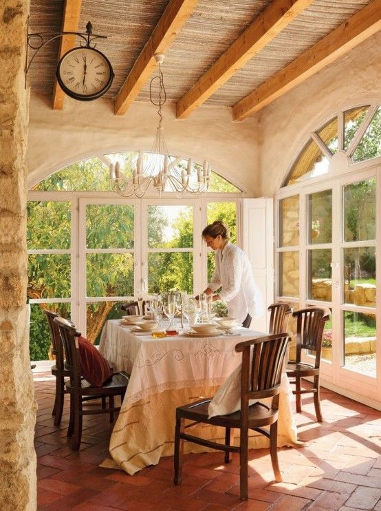 Charming And Beautiful Provence Dining Spaces   Rustic elegance .