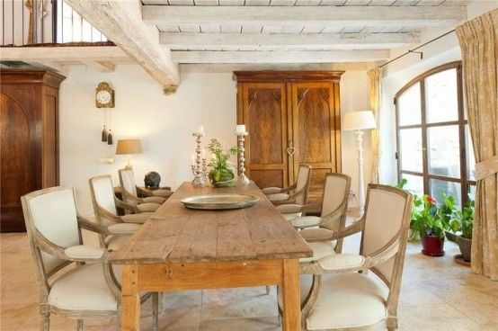 33 Charming And Beautiful Provence Dining Spaces   Dining room .