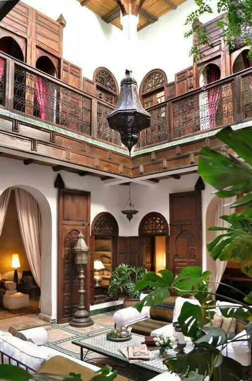 25 Charming Morocco-Style Patio Designs | Spanish style homes .