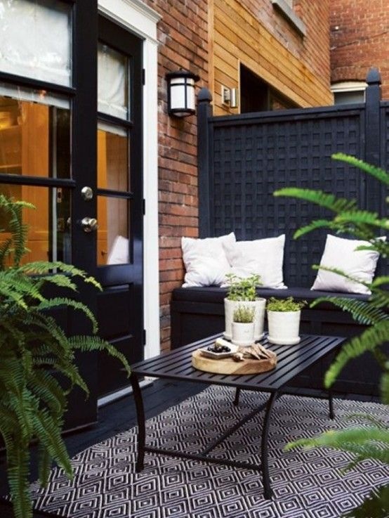 30 Chic Black And White Outdoor Spaces | DigsDigs | Small outdoor .