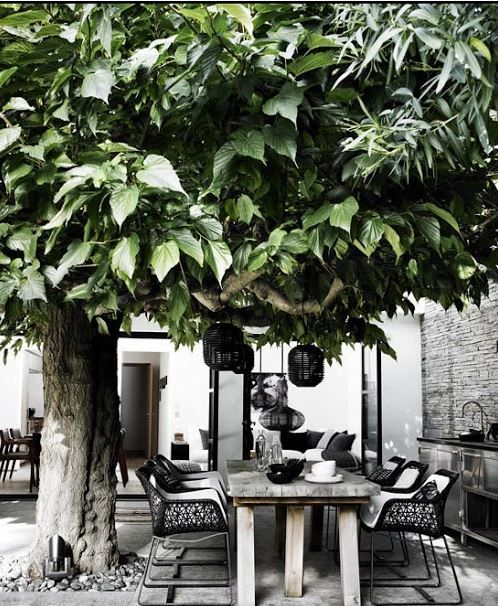 30 Chic Black And White Outdoor Spaces - DigsDi