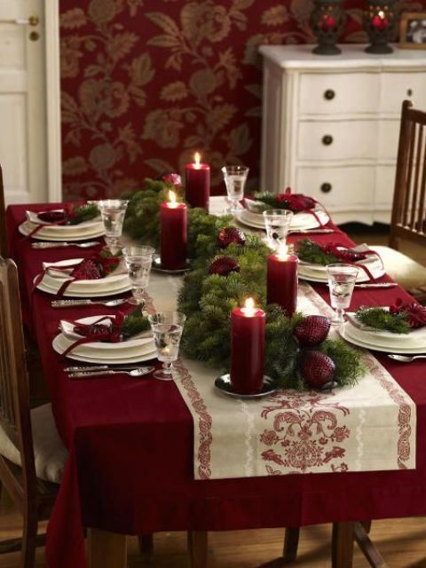 Christmas Home Decor Ideas In Traditional Red And Green .