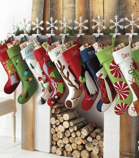 40 Christmas Stockings And Ideas To Use Them For Décor - DigsDi
