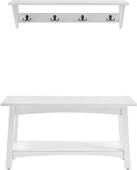 """Amazon.com: Alaterre Furniture Coventry 36"""" W Coat Hook with Bench ."""