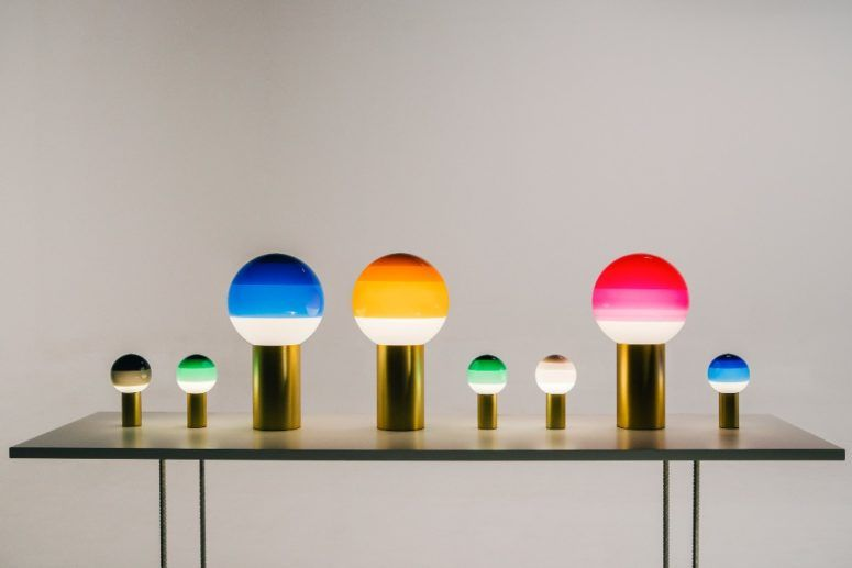 Dipping Light With Trendy Color Blocking   Lamp, Soft lighting .