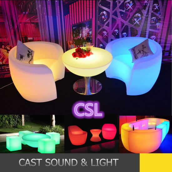 China Modern Waterproof 16 Color Changing Furniture LED Table .